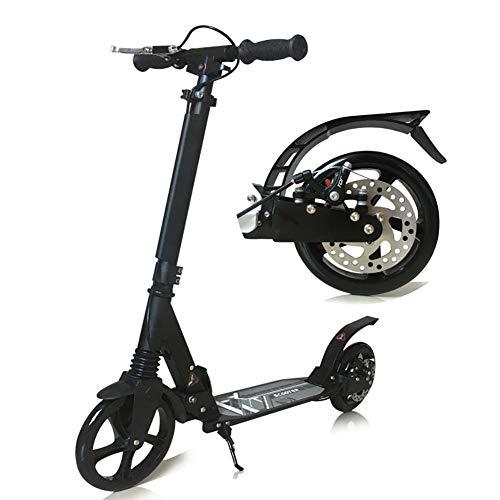 Patinetes clásicos Scooter Ajustable para Adultos con Rueda Grande y Manillar, Kickscooter...