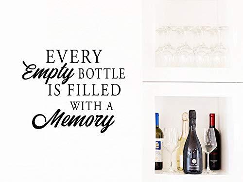 Elke lege fles is gevuld met een herinneringswandtattoo wijn muurkunst keuken muurkunst keuken muursticker muurkunst