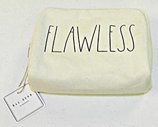 Rae Dunn by Magenta FLAWLESS Natural Cotton Cosmetic Bag - Zippered Pouch