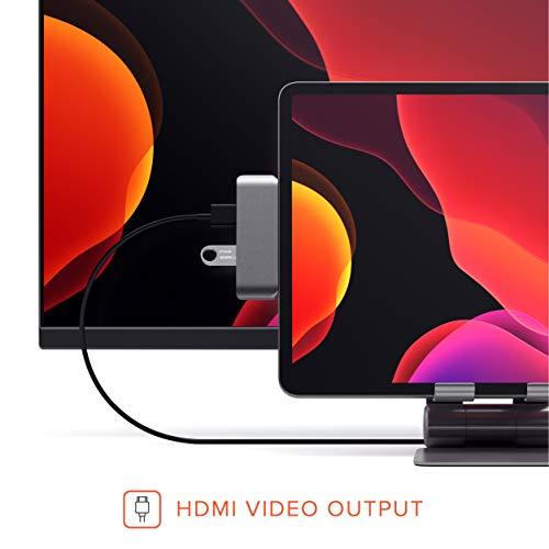 『Satechi アルミニウム Type-C モバイル Proハブ USB-C PD充電 4K HDMI USB 3.0 3.5mm ヘッドホンジャック (iPad Pro, Microsoft Surface Go対応) (スペースグレイ)』の1枚目の画像