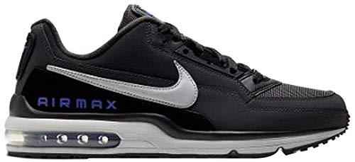 Nike Mens AIR MAX LTD 3 Running Shoe, Black/Lt Smoke Grey-Dk Smoke Grey