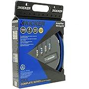 Kicker 46CK4 Car Audio 4 Gauge 2 Channel - Mono Amp Amplifier Install Kit CK4