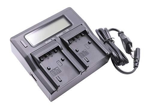 Cargador USB Dual vhbw 220V para Sony Batería FDR-AX100E, FDR-AX53, FDR-AXP33 como...