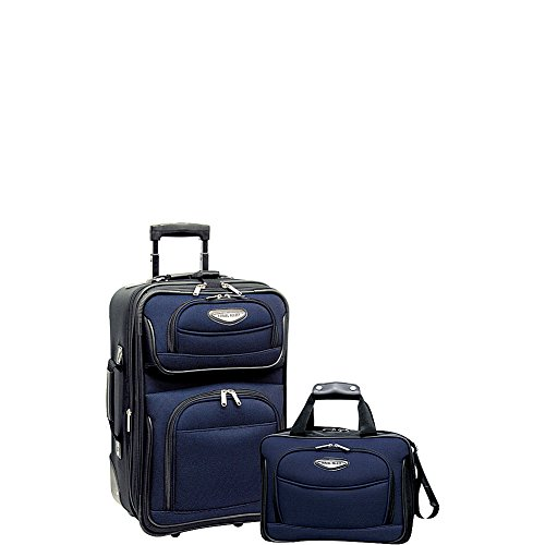 Travel Select Amsterdam Expandable Rolling Upright Luggage, Navy, 2-Piece Set