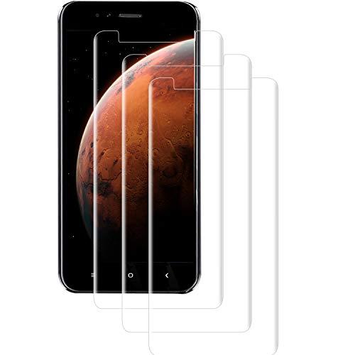 PUUDUU Cristal Templado para Xiaomi Mi A1, [3 Piezas] Cobertura Completa, Resistente a Los Arañazos, Sin Burbujas, Película Protectora de Vidrio Templado para Xiaomi Mi A1