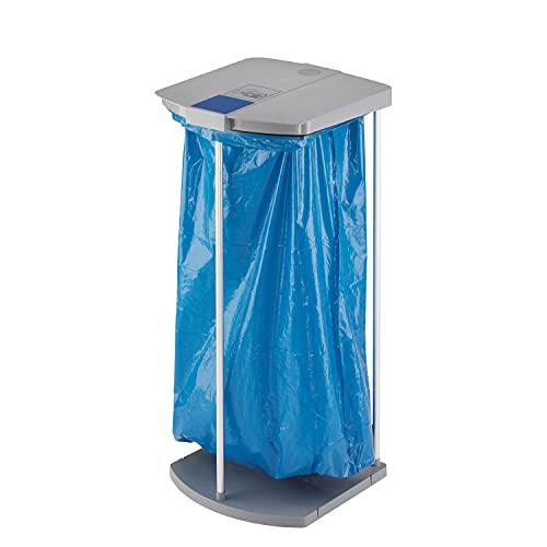 Hailo ProfiLine MSS XXXL Mülltrennsystem für 120 L Müllsäcke   Aluminiumgestell mit Klemmring   Müllsackständer mit Clip-System erweiterbar   Kunststoff-Bodenplatte   Müllsackhalter   grau