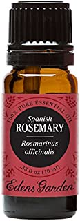 Edens Garden Rosemary Spanish Essential Oil, 100% Pure Therapeutic Grade (Highest Quality Aromatherapy Oils- Cold Flu & Inflammation), 10 ml