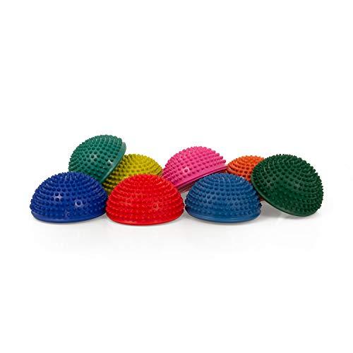 AFH Webshop Therapie Balance-Igel Premium Soft ca. Ø 16 cm Noppenball Massageball Igelball   8er Set + Pumpe