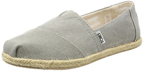 TOMS Alpargata Classic, Mujer, Gris (Drizzle Grey Washed Canvas 020), 38 EU