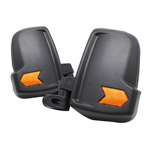 SHUI 2pcs Rückspiegel Für Elektrisches Dreirad, Geschlossenes Allrad-elektrofahrzeug (Fahrer- Und Beifahrerseite) Black