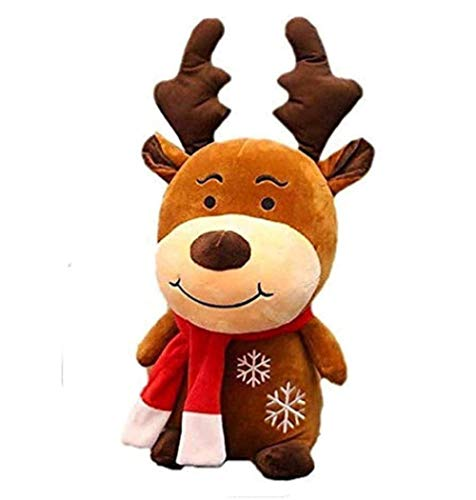 NC60 Plush Toy 22cm New Christmas Soft Furry Deer Reindeer Stag Christmas Decoration for Home Ornament Happy New Year Xmas Gift Kids Gift