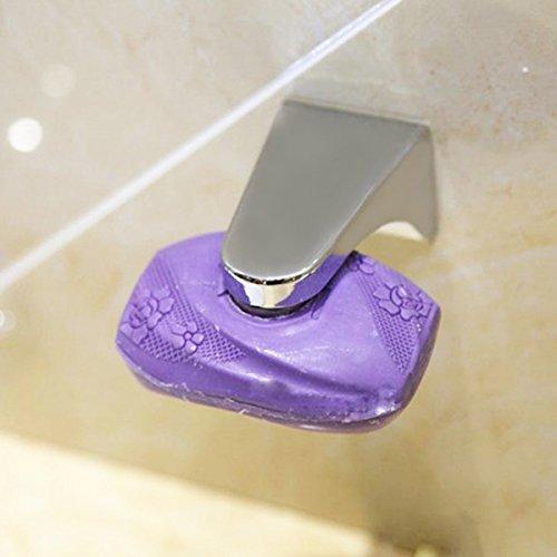 Gugutogo Pratico dispenser porta sapone magnetico in acciaio inox per uso domestico Portasapone dispenser per sapone a muro allegato (Colore: argento)