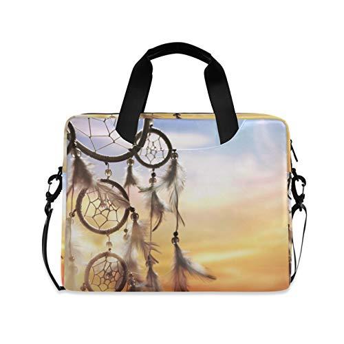 RELEESSS Laptop Sleeve Ethnic Dream Catcher Laptop Handbag Briefcase Messenger Carrying Case Bag Adjustable Shoulder Strap for 13-16 Inch