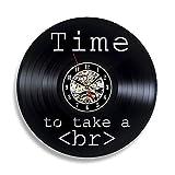 WADCRmgyx Programador de código Vintage Vinyl Record Reloj de Pared música Tiempo 3D Decoración Relojes Reloj de Pared Hecho a Mano Decoración para el hogar Regalo