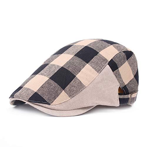 CHENTAI Male Beret Spring Summer Korean Forward Hat Women Hat Visor Peaked Cap Black