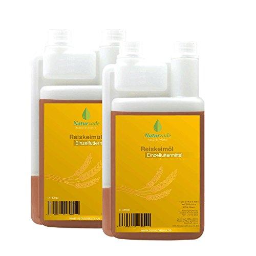 Naturzade Reiskeimöl Einzelfuttermittel Pferde 2 Liter Dosierflasche