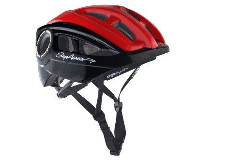 Brooks Erwachsene Fahrradhelm Supacross, Black/Red, L/XL