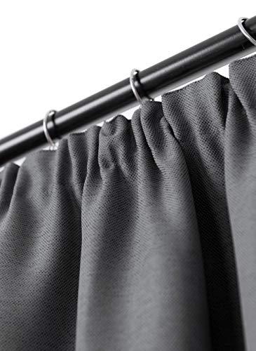 Rollmayer Vorhang mit Bleistift MELO (C8 Dunkel Schwarzgrau,140x215 BxH). Blickdicht Gardinen für Schlafzimmer,...