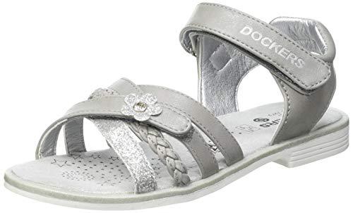 Dockers by Gerli Damen Girl Fashion Sandal Slipper, Silber, 38 EU