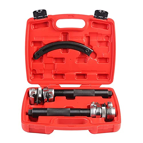 Fourward 3 TLG Schraubenfederkompressor Federspanner Werkzeug Hochleistungs-Federkompressor, extrem...