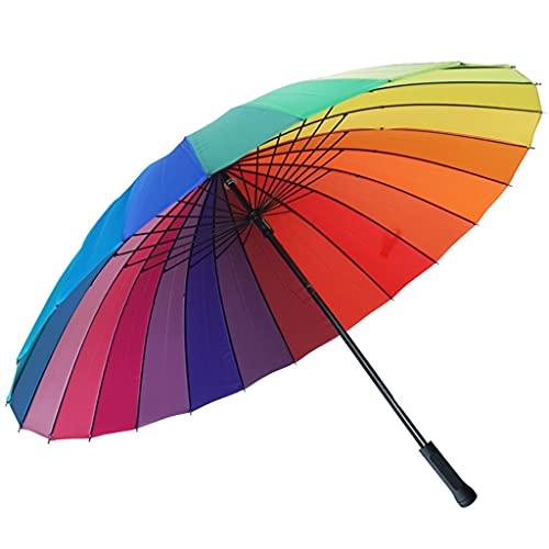WFS Paraguas antiviento Paraguas Paraguas Paraguas Paraguas Viaje para Resistentes Fuertes Lluvias Y Viento Gran Tamaño Equipo de Viaje (Color : A)