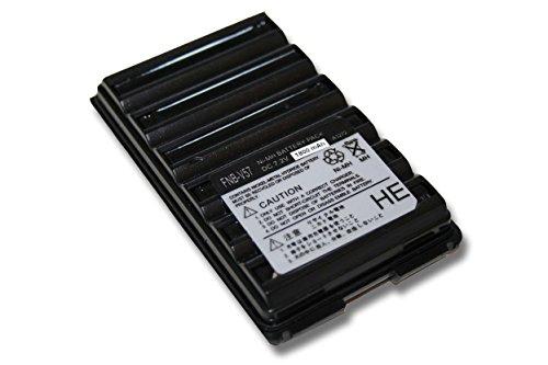 vhbw Batería Recargable Compatible con Yaesu/Vertex FT-60, FT-60E, FT60R, FT-60R, VX110, VX-110, VX120 Radio (1800 mAh, 7,2 V, NiMH)
