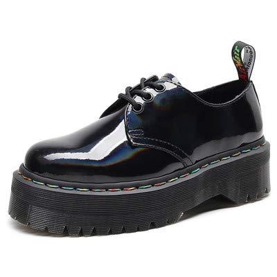 Zwarte laarzen vrouwen Lace-Up enkellaarzen lederen platte laarzen klassieke warme waterdichte schoenen voor de herfst en winter