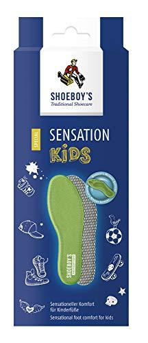 SHOEBOY'S Sensation KIDS - Kinder-Einlegesohle mit Memory-Schaum, passt sich jedem Fuß an - Größe 32, 1 Paar 000000000008224632