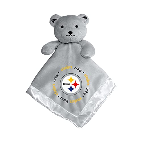 MasterPieces Baby Fanatic NFL Pittsburgh Steelers Security Bear Blanket, One Size, Gray