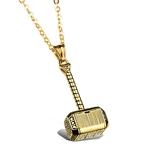 Collar Colgante Joyería Collar Colgante Collar De Moda De Acero Inoxidable para Hombres Joyería De La Amistad-Golden_with_Chain