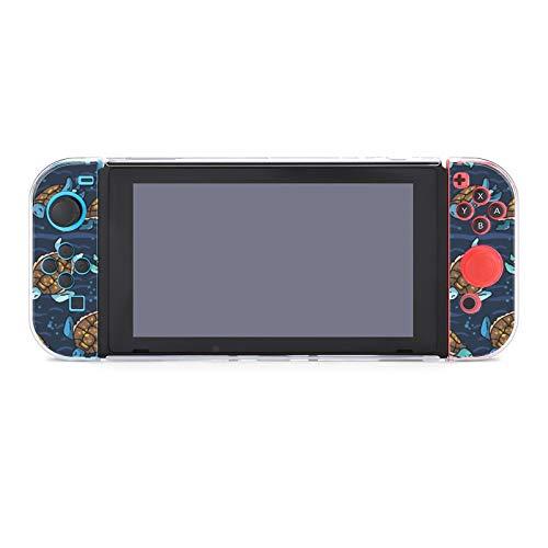 Funda protectora de PC antiarañazos para Nintendo Switch, compatible con mandos Joy-Con Split 5 piezas, funda suave para consola de juegos - Lindo grupo de natación de tortugas marinas