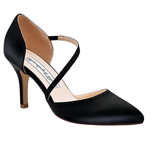 Duosheng & Elegant HC1711 Mujer Dedo del pie Puntiagudo Tacones de Aguja...