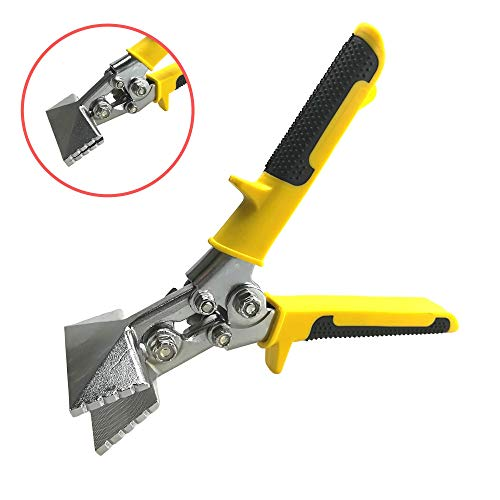 Red Oak Tools Sheet Metal Hand Seamer – 3 Inch Straight Jaw Metal Bender - Yellow