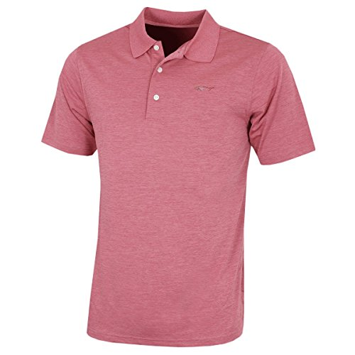 Greg Norman Mens Golf KX83 Golf-Polo-Hemd - Slate Rose - S
