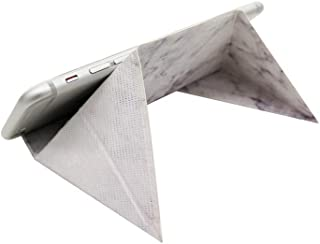 FODI - The Flat Origami Stand Single Pack White Marble Pattern, Fit for Your Mobile Devices, Laptops and Much More