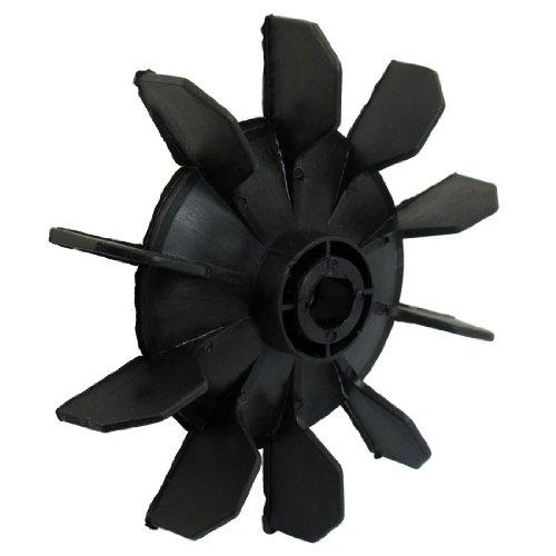 TOOGOO(R) Air Kompressor Artikel Schwarz Kunststoff 14mm Innen-£¿. Zehn Vanes Motor Fan Blade