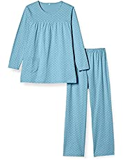 [セシール] パジャマ 綿100% Tタイプ ドット柄 長袖 NW-349 レディース