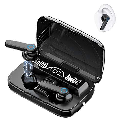 Auriculares inalámbricos Bluetooth 5.1, Control táctil, IPX7 reducción del Ruido estéreo 3D HD, con micrófono y Estuche de Carga portátil para Todos Bluetooth de Android/iPhone/Airpods/Samsung/Xiaomi