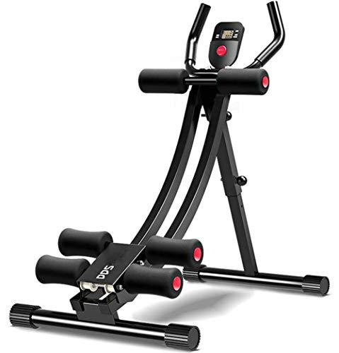 Lcyy-Abs Shaper Fitness-Gerät Faltbare Bauch Trainer Muskelaufbau Fitness Gewichtsverlust Fitness Power Ab Trainer Multifunktionale 3 Stufen Steigung Anpassung 5 Minuten Shaper Schwarz