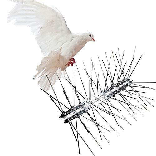 2 stuks, 1M Stainless Steel Bird Repellent Spikes Eco-vriendelijke Anti Pigeon Nail Bird afschrikmiddel Voor Duiven Owl kleine vogels Fence,Silver