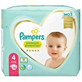 foto Pampers Premium Protection - Pañales (talla 4, 30 pañales, 9 kg - 14 kg, 885 g)