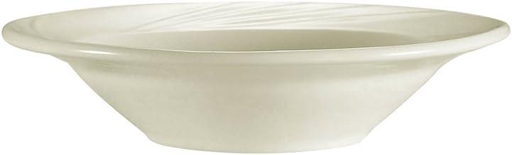 طبق فاكهة بورسلين أبيض منقوش من CAC تشاينا 6-3/8-Inch( 11.5-Ounce ) GAD-10