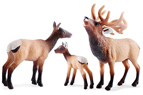 Elk Toy Figurines Set, Elk Family Figures Cake Toppers