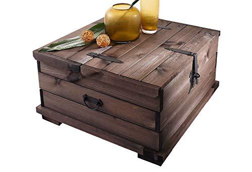 Loft24 A/S Truhen-Couchtisch Truhe Holztruhe Tisch Kiste Aufbewahrungsbox Kaffeetisch Kiefer in Havana Länge 72 cm 110 cm (Havana, 72 cm)