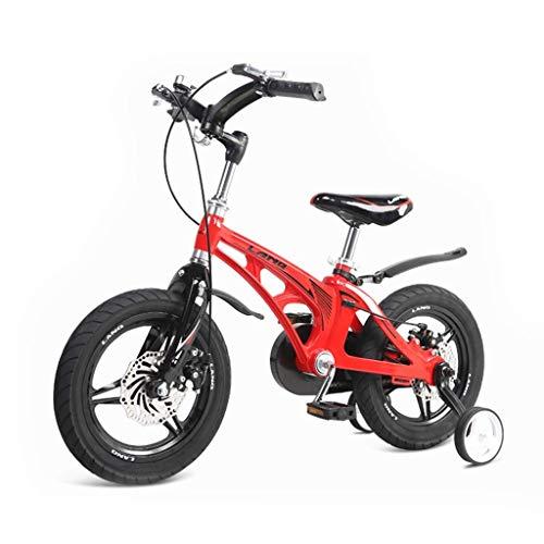 seveni Bicicletas para niños, Bicicleta para niños Mujer 2-10 años Cochecito para niños Niño Niña Bicicleta Bicicleta para Montar afuera Bicicleta Plegable (Color: Rojo, Tamaño: 14 Pulgadas)