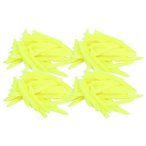 Qqmora Boya de Pesca Sensible Flotadores de Pesca Ligeros elásticos Flotadores de Pesca de Goma Flotador de Peces Reutilizable Cola Plana Práctico para(Small Yellow)