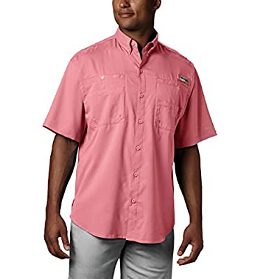 Columbia Men's PFG Tamiami II Short Sleeve Shirt, Sorbet, Large