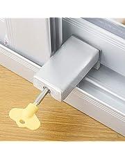1 stuk deurvenster Lock stopper instelbare dikke schuifbeveiliging anti-diefstal kinderen veiligheid lockchild kunststof staal aluminium vrije rails grens raam deur anti-slip