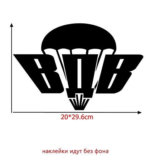 PJYGNK Sticker de Carro TZ-516 12,8 * 12 cm 20 * 29,6 cm 1-4 PiezasAirborne Forces of Russia Pegatina y calcomanías para Coche Pegatinas Divertidas