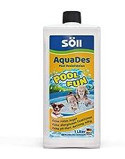 Söll 31430 AquaDes Pool-Desinfektion flüssig 1 l - wirksame Poolreinigung Wasserpflege gegen Bakterien und Keime zur Desinfektion von Pool Planschbecken Schwimmbad Kinderbecken Kinderpool